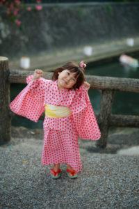 麻の葉の模様の浴衣