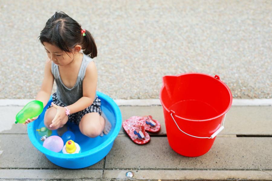 2018年夏 水遊び 子供