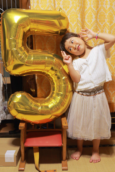 5歳誕生日 数字バルーン