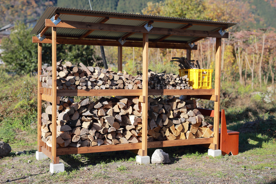 薪小屋 自作 DIY