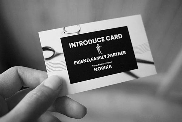 美容室ご紹介カードデザイン