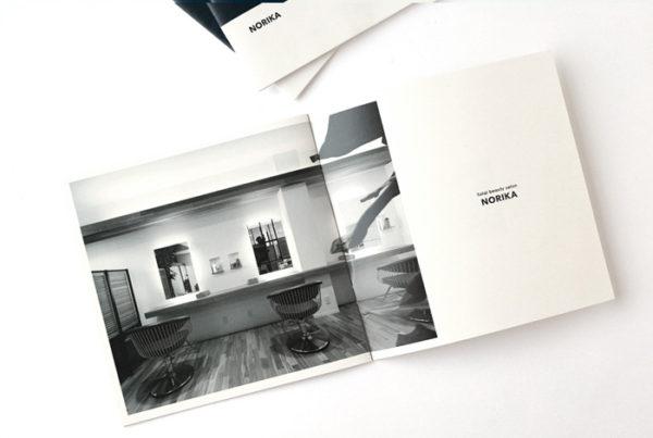 美容室リクルートパンフレットデザイン